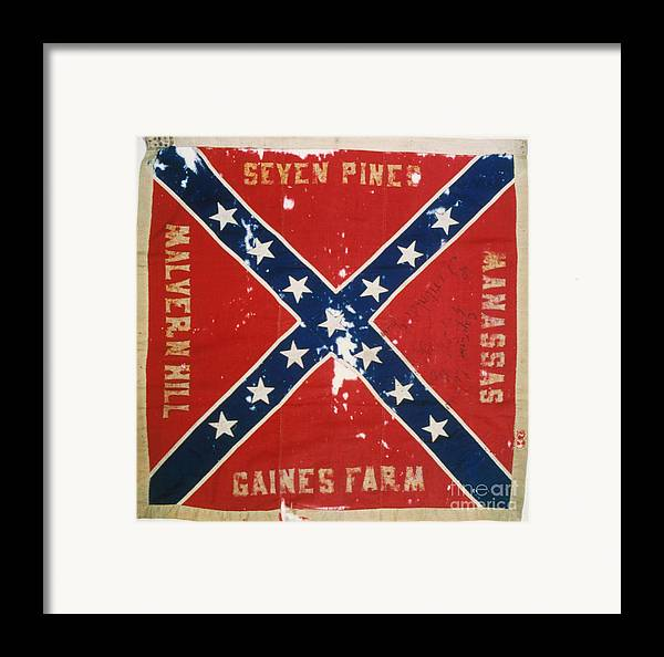 1863 Framed Print featuring the photograph Confederate Flag by Granger