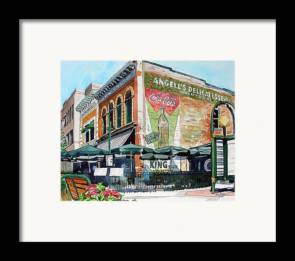 Watercolor Framed Print featuring the painting Coopersmith's Again by Tom Riggs