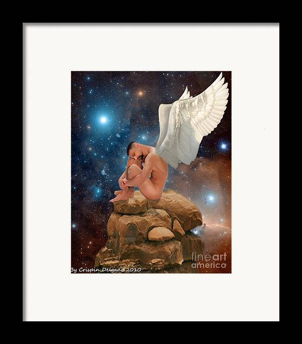 Fairy Framed Print featuring the digital art Cosmic Skies by Crispin Delgado