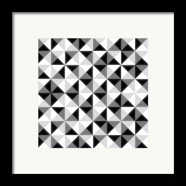 Abstract Framed Print featuring the digital art Count The Squares by Ron Brown