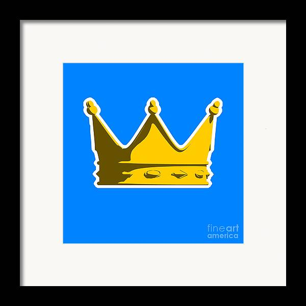 Crown Framed Print featuring the digital art Crown Graphic Design by Pixel Chimp