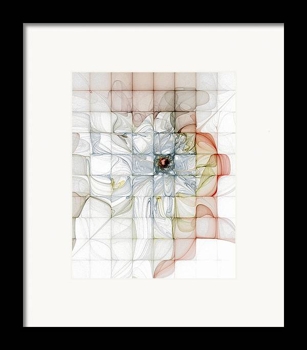 Digital Art Framed Print featuring the digital art Cubed Pastels by Amanda Moore