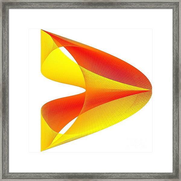 Cusp Framed Print featuring the digital art Cusp by Michael Skinner