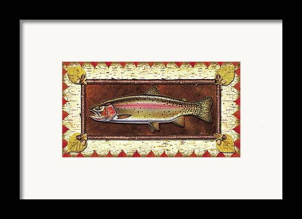 Trout Framed Print featuring the painting Cutthroat Trout Lodge by JQ Licensing