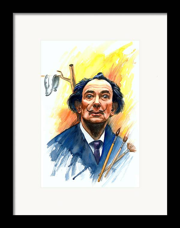 Salvador Dali Framed Print featuring the painting Dali by Ken Meyer jr