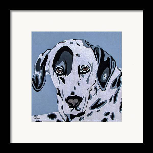 Dalmatian Framed Print featuring the painting Dalmatian by Slade Roberts
