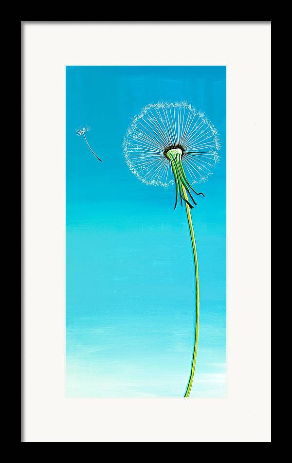 Dandelion paintings framed prints dandelion paintings for Art print for sale