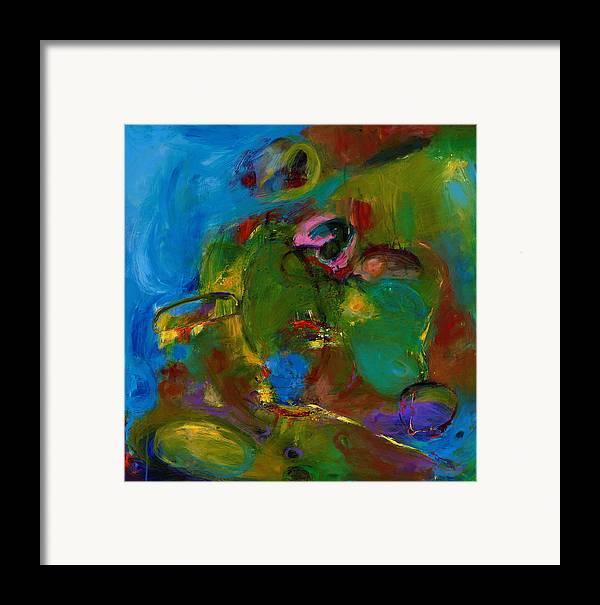 Abstract Expressionistic Framed Print featuring the painting Day Expressing Dawn by Johnathan Harris