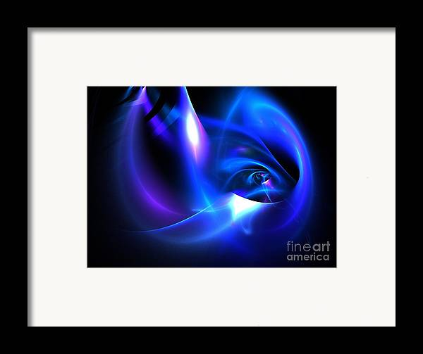 Apophysis Framed Print featuring the digital art Delphinium by Kim Sy Ok
