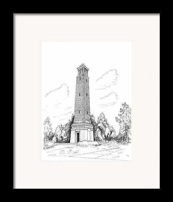 Denney Chimes Framed Print featuring the drawing Denney Chimes by Barney Hedrick