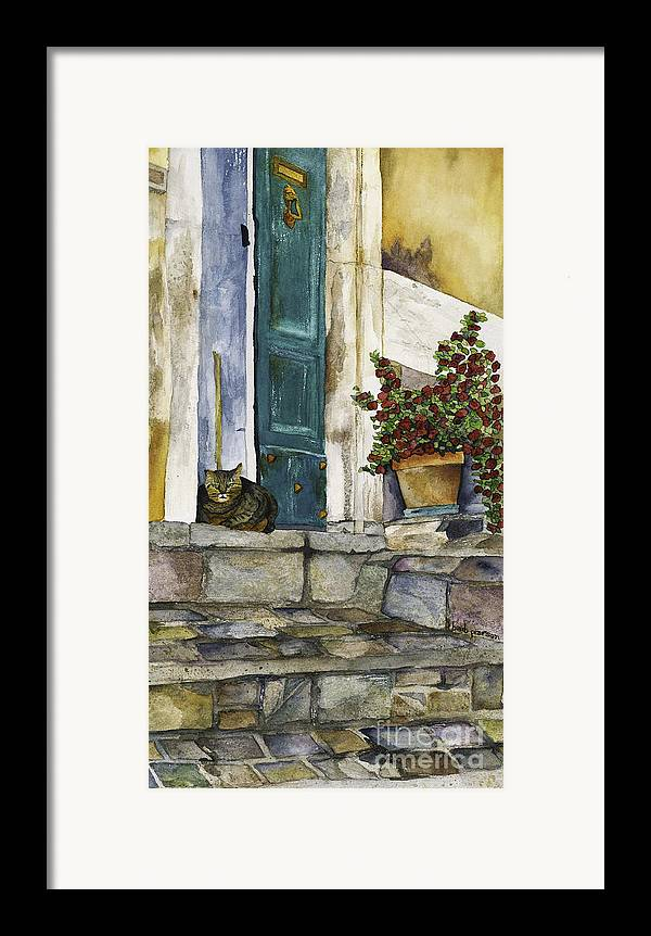 Cat Framed Print featuring the painting Di Gatto by Barb Pearson