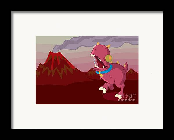 Illustrator Framed Print featuring the drawing Dino by Kyle Harper