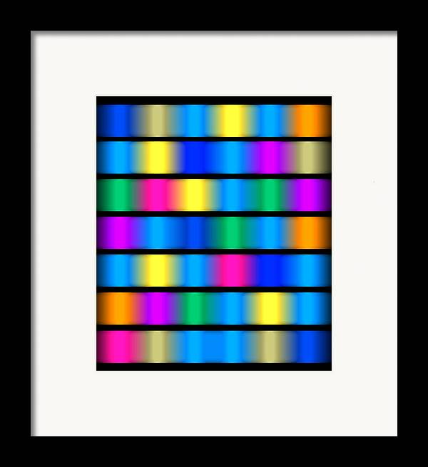 Modern Paintings Framed Print featuring the painting Dna Modern Paintings Abstract Bubble Wall Art by Robert R Splashy Art