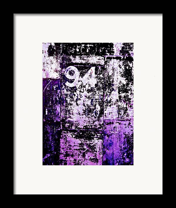 Abstract Framed Print featuring the photograph Door 94 Perception by Bob Orsillo