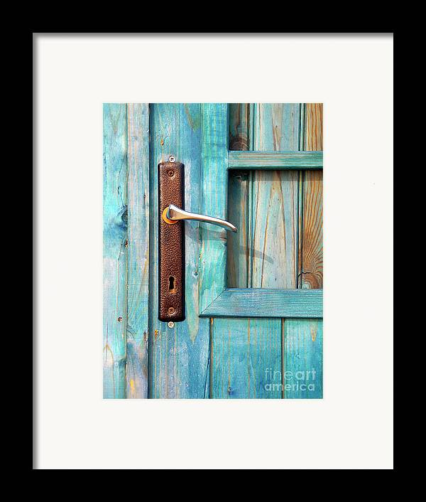 Abandonment Framed Print featuring the photograph Door Handle by Carlos Caetano
