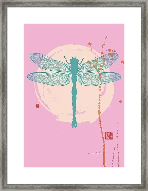 Dragonfly 4 Pastel Framed Print By Thoth Adan