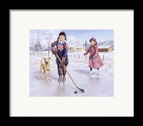 Winter Framed Print featuring the painting Dreams Of Glory by Richard De Wolfe