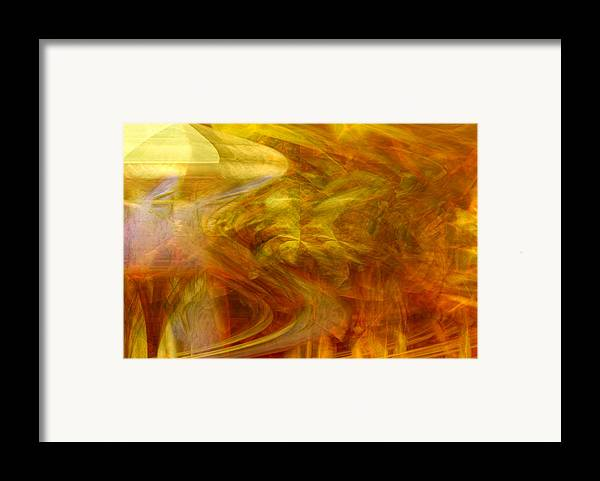 Abstract Art Framed Print featuring the digital art Dreamstate by Linda Sannuti