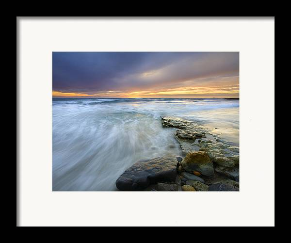 Rocks Framed Print featuring the photograph Driven Before The Storm by Mike Dawson