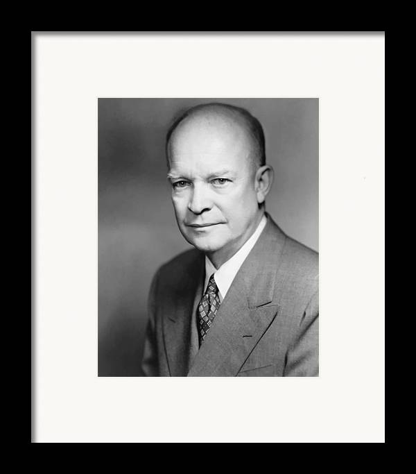 Eisenhower Framed Print featuring the painting Dwight Eisenhower by War Is Hell Store