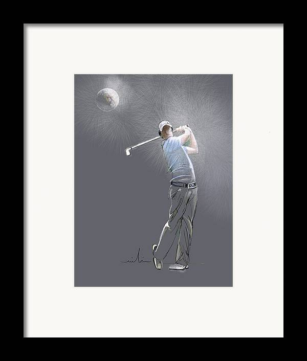 Golf Framed Print featuring the painting Eclipse by Miki De Goodaboom