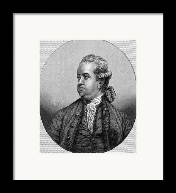 1700s Framed Print featuring the photograph Edward Gibbon, English Historian by Middle Temple Library