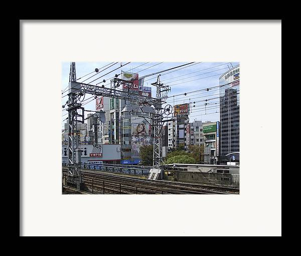 Japan Framed Print featuring the photograph Electric Train Society -- Kansai Region Japan by Daniel Hagerman