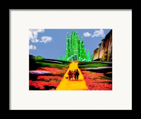 Wizard Of Oz Framed Print featuring the photograph Emerald City by Tom Zukauskas