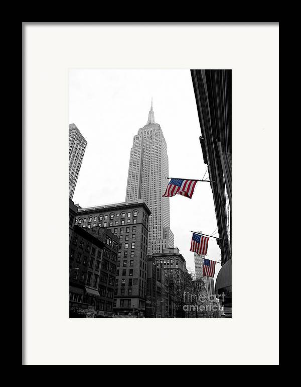 Manhattan Framed Print featuring the photograph Empire State Building In The Mist by John Farnan