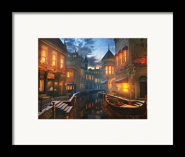 Venice Framed Print featuring the painting Enchanted Waters by Joel Payne