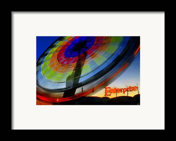 Enterprise Framed Print featuring the painting Enterprise by David Lee Thompson