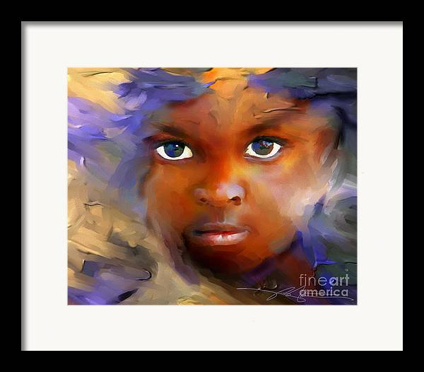 Haiti Framed Print featuring the painting Every Child by Bob Salo