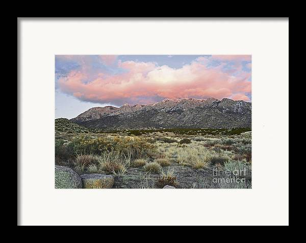 Albuquerque New Mexico Framed Print featuring the photograph Fairytale Clouds by Andrea Hazel Ihlefeld