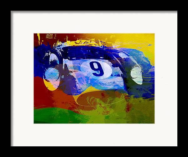 Naxart Framed Print featuring the digital art Ferrari Testarossa Watercolor by Naxart Studio