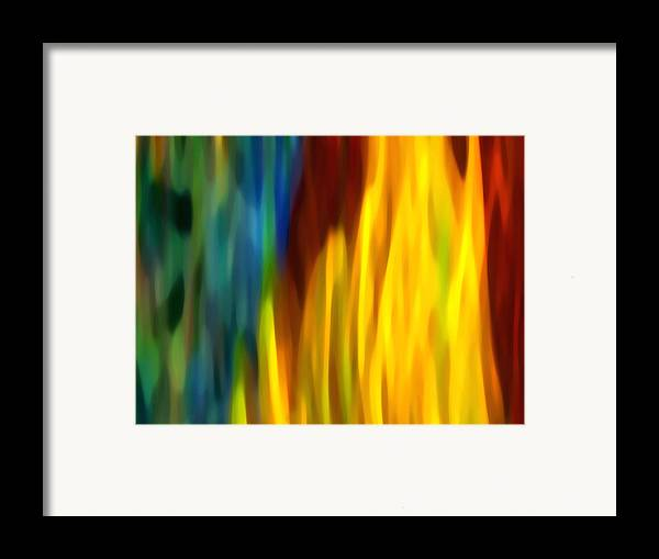 Fire Framed Print featuring the painting Fire And Water by Amy Vangsgard