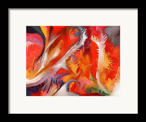 Fire Framed Print featuring the painting Fire Storm by Peter Shor