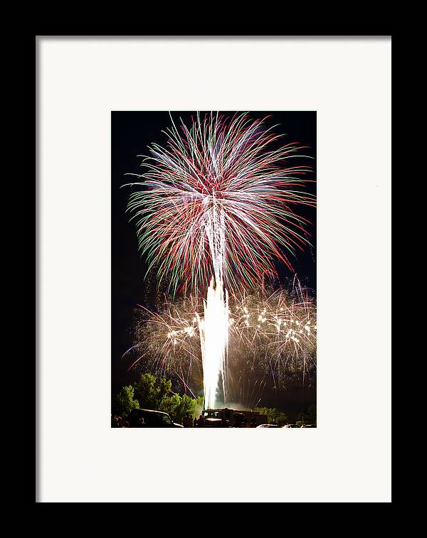 Fireworks Framed Print featuring the photograph Fireworks by Ernesto Grossmann