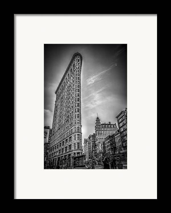 Architecture Framed Print featuring the photograph Flatiron by Shari Mattox