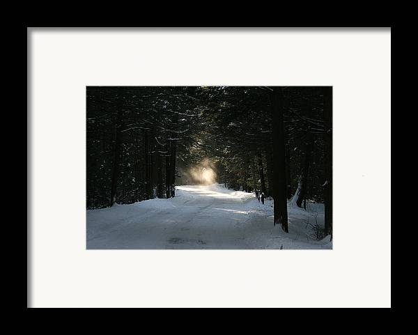 Falling Snow Framed Print featuring the photograph Flying Angel No.2 by Neal Eslinger