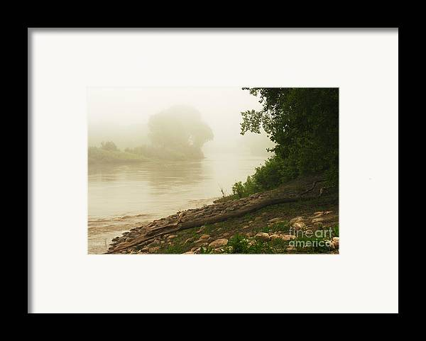 Red River Framed Print featuring the photograph Fog Along The Red by Steve Augustin