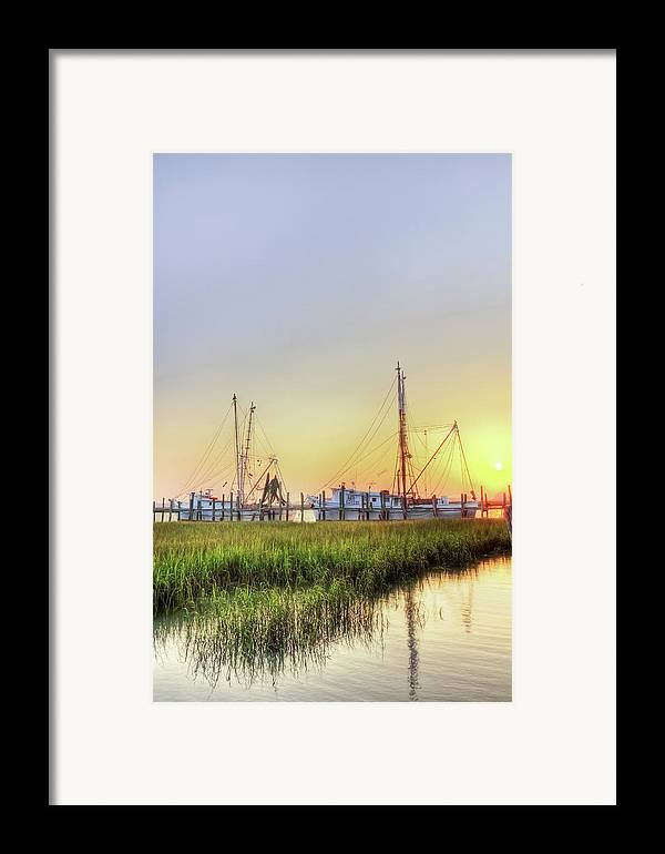Folly Framed Print featuring the photograph Folly Fishing Boats by Drew Castelhano
