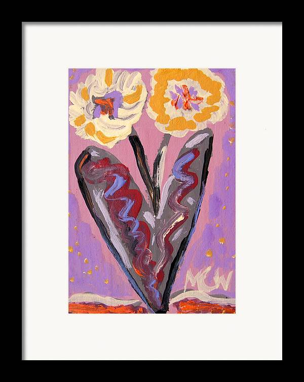 Flowers Framed Print featuring the painting For Kensington Double Yellow by Mary Carol Williams