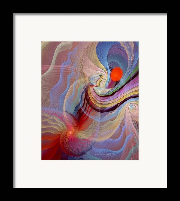 Fractal Framed Print featuring the digital art Form Accepted In The Heart by Gayle Odsather