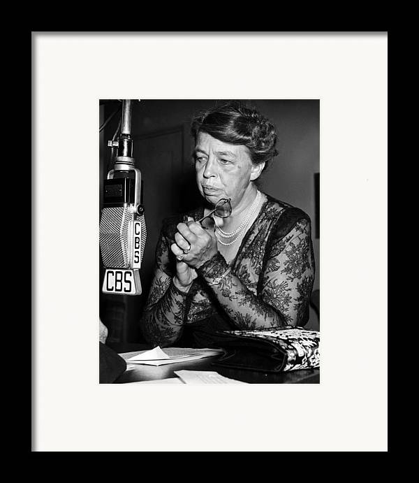 1940s Candid Framed Print featuring the photograph Former First Lady Eleanor Roosevelt by Everett