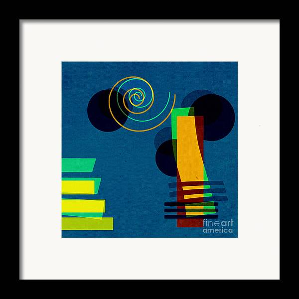 Abstract Framed Print featuring the digital art Formes - 03b by Variance Collections