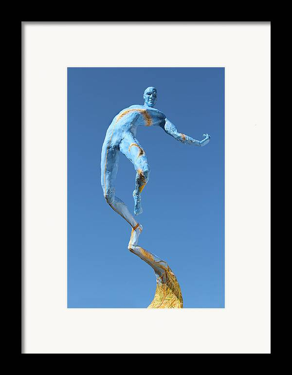 Art Framed Print featuring the sculpture Foxtails In The Breeze Photographed Outside by Adam Long