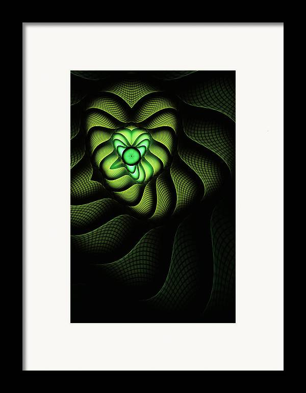 Snake Framed Print featuring the digital art Fractal Cobra by John Edwards