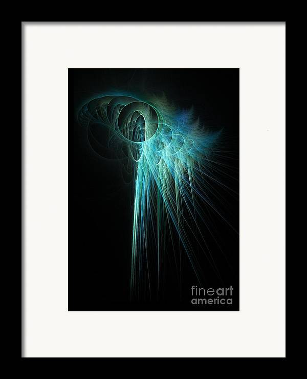 Glow Framed Print featuring the digital art Fractal Rays by John Edwards