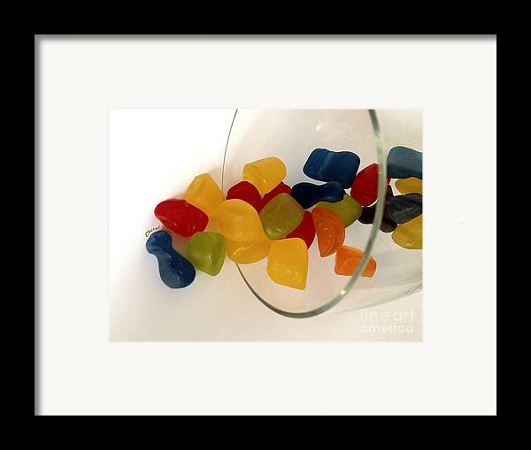 Gummi Candy Framed Print featuring the photograph Fruit Gummi Candy by Cheryl Young