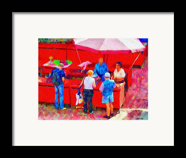 Fruit Framed Print featuring the painting Fruit Of The Vendor by Jeff Kolker